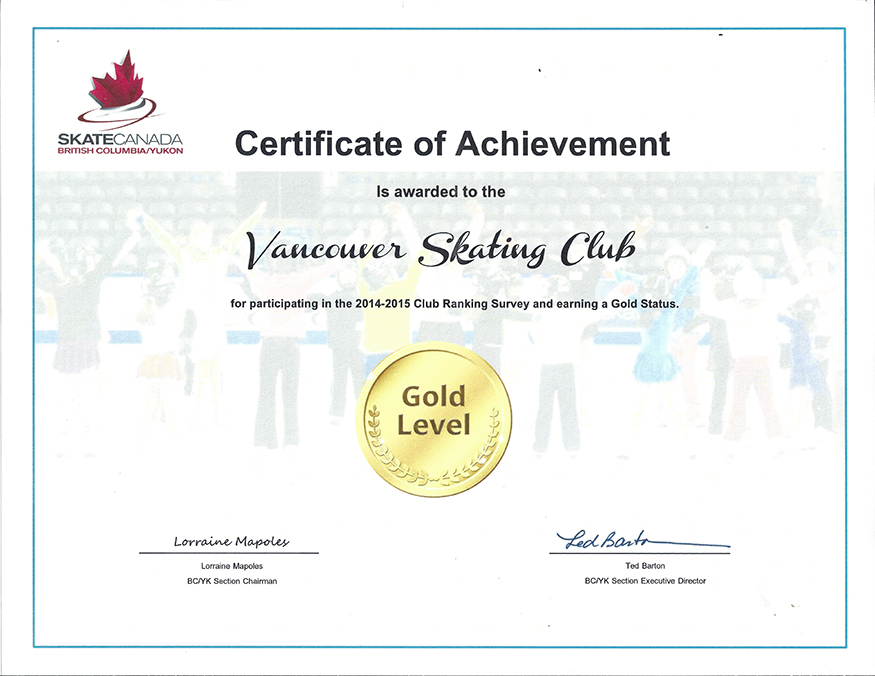 VSC 2015 Certificate